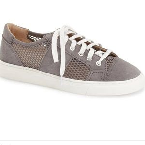 Vince Camuto Breya Grey Suede/Mesh Sneaker sz 7.5M